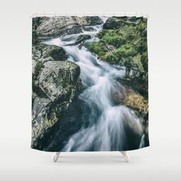Wild river in Europe mountains Shower Curtain