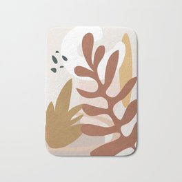 Abstract Plant Life II Bath Mat