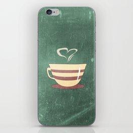 Coffee is love illustration iPhone Skin
