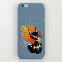 batgirl iPhone & iPod Skins featuring Batgirl by Станислава Коробкова