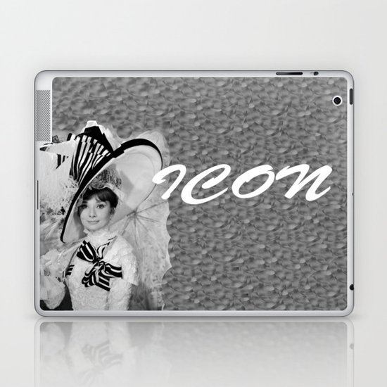 Audrey Hepburn ICONIC ICON BEAUTY SCENE Laptop & iPad Skin