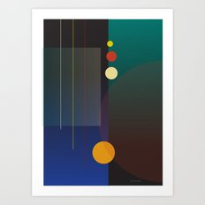 Circles, Lines, Squares - Abstract Design Art Print