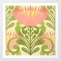 King Protea Flower Pattern - yellow by sewzinski