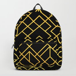 South Beach Art Deco Pattern Backpack