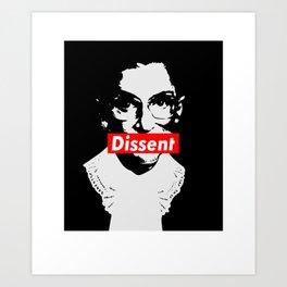 RBG Ruth Bader Ginsburg Dissent Feminist Political Art Print