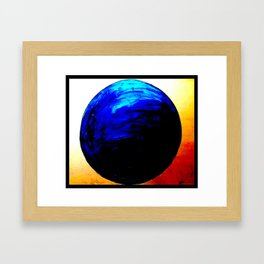 blue. blue. this world is blue. Framed Art Print