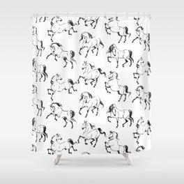 Dancing Horses Shower Curtain