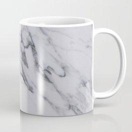 Marble - Black and White Gray Swirled Marble Design Coffee Mug