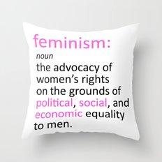 Feminism Defined Throw Pillow