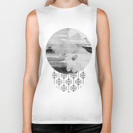'Planets' minimal styled geometrc design and abstract painting Biker Tank