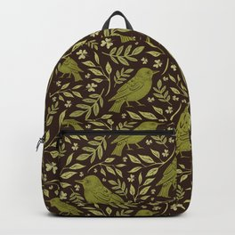 Little Wrens Hiding In The Hedgerow Backpack