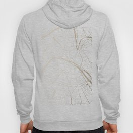 Paris Gold and White Street Map Hoody