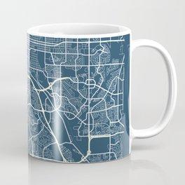 Colorado Springs Blueprint Street Map, Colorado Springs Colour Map Prints Coffee Mug