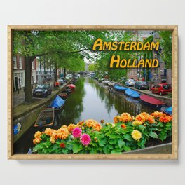 Amsterdam Holland Canal Serving Tray