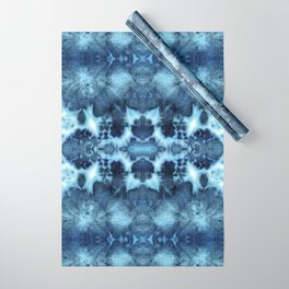 Tie-Dye Damask Blue Wrapping Paper