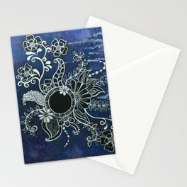 Blooming Blackhole Stationery Cards