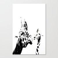 giraffes Canvas Prints featuring Giraffes  by Digital-Art