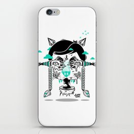 evilcat by s-fly iPhone Skin