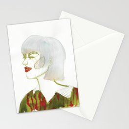Mel with tip-dye hair Stationery Cards