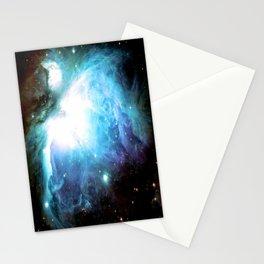 Orion Nebula Aqua Periwinkle Gold Stationery Cards
