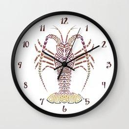 Tribal Caribbean Lobster Wall Clock