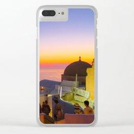 Sunset in Oia,Santorini Clear iPhone Case