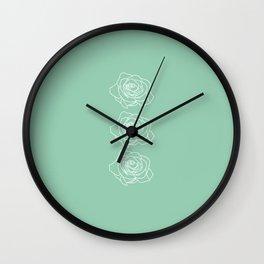 Rose Vert Claire Wall Clock