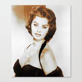 Sophia Loren, Hollywood Legend Canvas Print