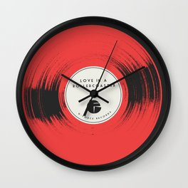 Love in a Rollercoaster Wall Clock