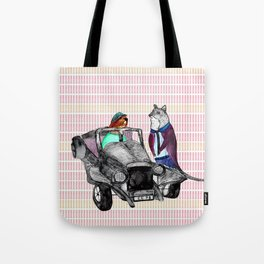 Animals and cars Tote Bag