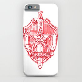 KGB Badge Outline Drawing iPhone Case
