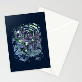 Welcome to the jungle (neon alternate) Stationery Cards