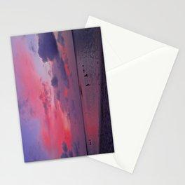 Swimming Towards Sundown Stationery Cards