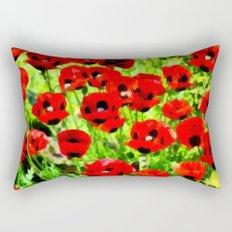 Poppies 4 Rectangular Pillow