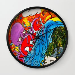 CRB vs The Greedy Octopus Wall Clock