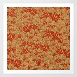 Just Orange Flowers Art Print