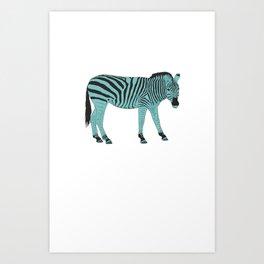 Zebrastyle Art Print