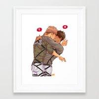snk Framed Art Prints featuring SNK: Jeaneren by Yuki119