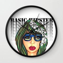"""Basic Hipster"" Wall Clock"