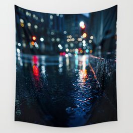 Cold City Lights Wall Tapestry