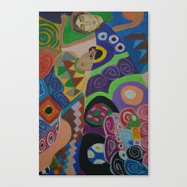 Inspired by Klimt Canvas Print