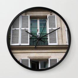 Parisian Flats Wall Clock