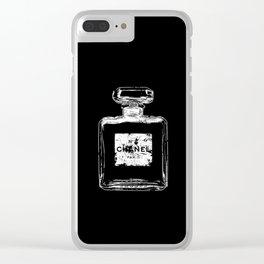 Old perfume, parfum bottle - Eroded label - Nº - Paris - Vintage - Fashion Clear iPhone Case