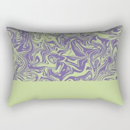 Liquid Swirl - Lettuce Green and Ultra Violet Rectangular Pillow