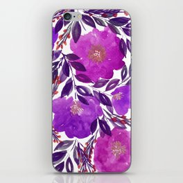 hand painted flowers_3b iPhone Skin