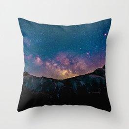 Galaxy Mountain Throw Pillow