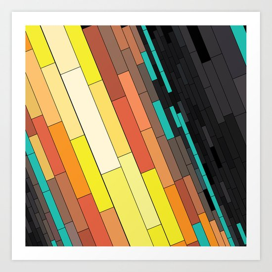Revenge of the Rectangles I Art Print