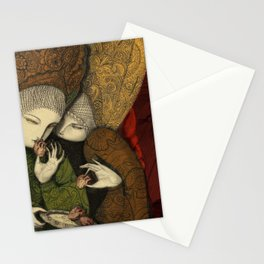 Three maidens by the window Stationery Cards