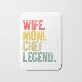 Best Mother Women Funny Gift T Shirt Wife Mom Chef Legend Bath Mat