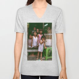 How Many Can We Squeeze into One Hut Unisex V-Neck